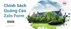 chinh sach quảng cáo zalo form